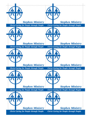 Stephen Ministry Business Cards Downloadable Resources - 10 up business card template