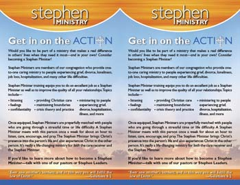 Bulletin Insert for Recruiting Stephen Ministers